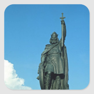 Statue of Alfred the Great Square Sticker
