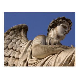 Statue of an angel , The Louvre , Paris , France Postcard