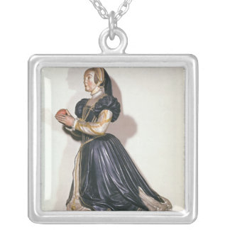 Statue of Antoinette de Fontette Silver Plated Necklace