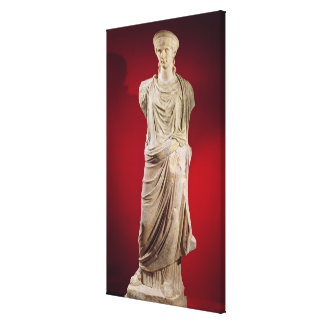Statue of Antonia the Younger Canvas Print