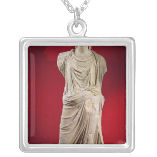 Statue of Antonia the Younger Silver Plated Necklace