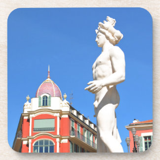 Statue of Apollo (Neptune) overlooking Place Masse Beverage Coaster