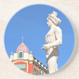Statue of Apollo (Neptune) overlooking Place Masse Drink Coaster