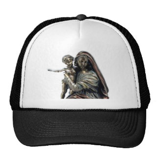 Statue of Blessed Virgin Mary and Child Jesus Trucker Hat