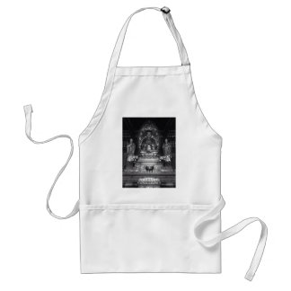 Statue of Buddha from a Chinese Buddhist Temple Adult Apron