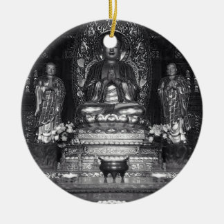 Statue of Buddha from a Chinese Buddhist Temple Ceramic Ornament