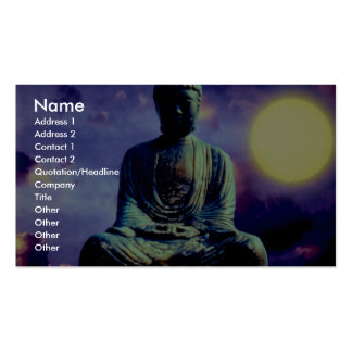 Statue of Buddha with sun Double-Sided Standard Business Cards (Pack Of 100)