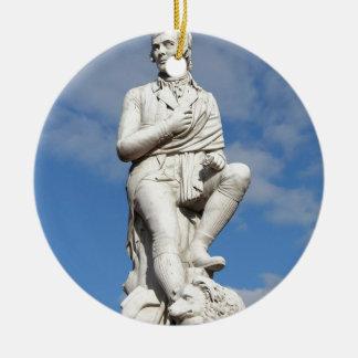 Statue of Burns Ceramic Ornament