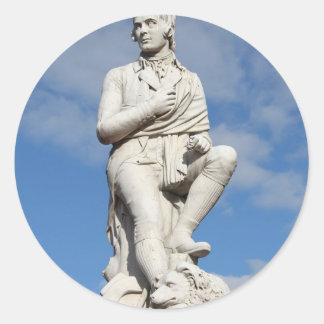 Statue of Burns Classic Round Sticker