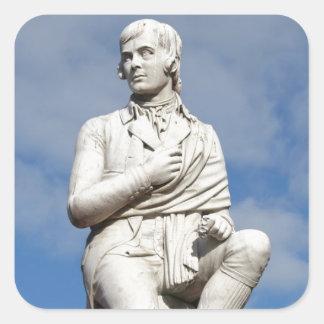 Statue of Burns Square Sticker