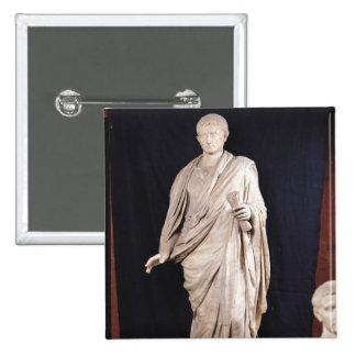 Statue of Caesar Augustus Pinback Button