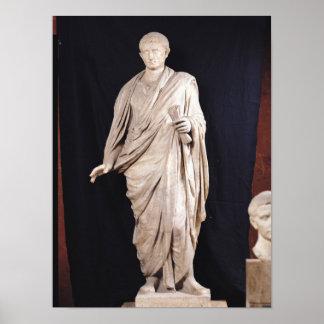 Statue of Caesar Augustus Poster