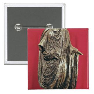 Statue of Caesar Julianus Pacatianus 2 Inch Square Button
