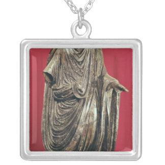 Statue of Caesar Julianus Pacatianus Silver Plated Necklace