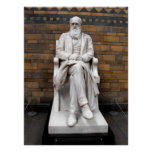 Statue of Charles Darwin Poster