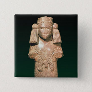Statue of Coatlicue, ancient earth and mother Pinback Button