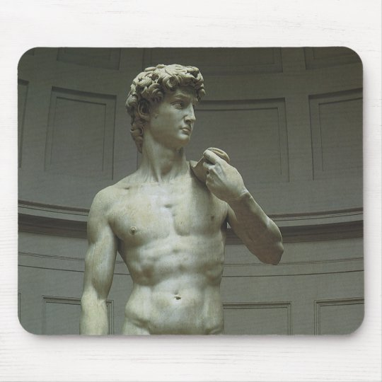 Statue of David by Michelangelo Mouse Pad