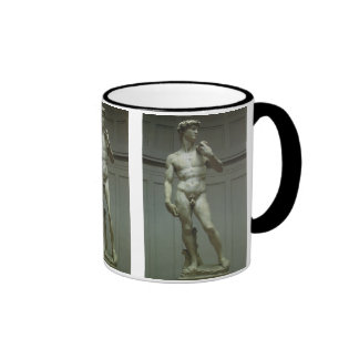 Statue of David by Michelangelo Ringer Mug