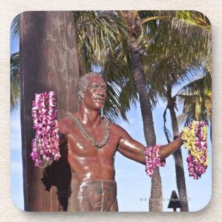 Statue of Duke Paoa Kahinu Mokoe Hulikohola Beverage Coaster