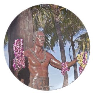 Statue of Duke Paoa Kahinu Mokoe Hulikohola Melamine Plate
