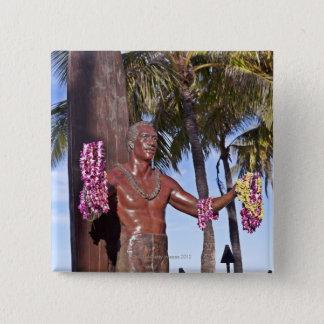 Statue of Duke Paoa Kahinu Mokoe Hulikohola Pinback Button