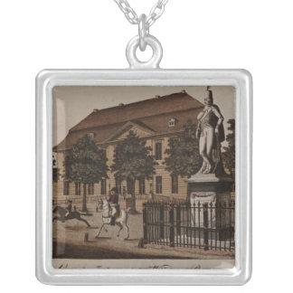 Statue of General von Ziethen in Wilhelm Platz Silver Plated Necklace