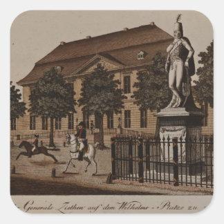 Statue of General von Ziethen in Wilhelm Platz Square Sticker