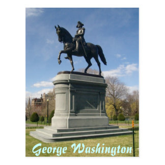 Statue of George Washington Postcard