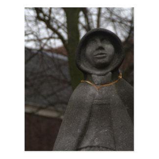 Statue of Gertrude van Oosten, Delft Postcard
