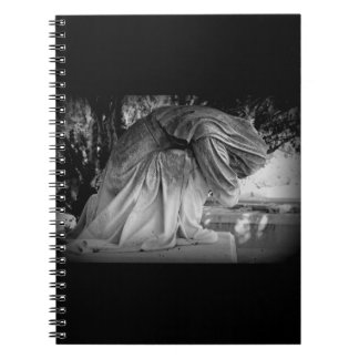 Statue of Grief in black and white Notebook