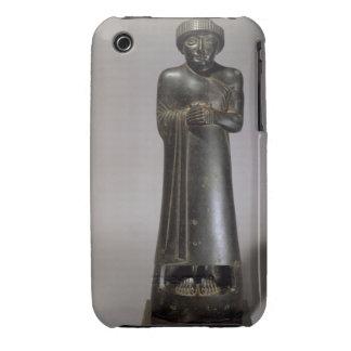 Statue of Gudea, Prince of Lagash, Neo-Sumerian, f iPhone 3 Covers