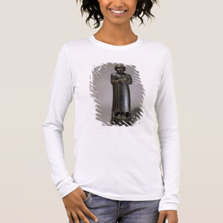 Statue of Gudea, Prince of Lagash, Neo-Sumerian, f Long Sleeve T-Shirt