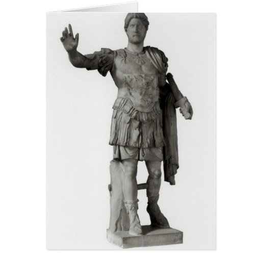 Statue of Hadrian  (marble Greeting Card