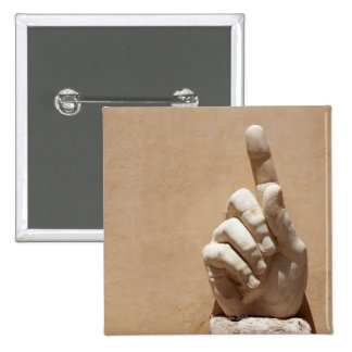Statue of hand in Palazzo dei Conservatori Button