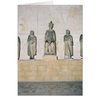 Statue of Henry VII , Holy Roman Emperor Greeting Card