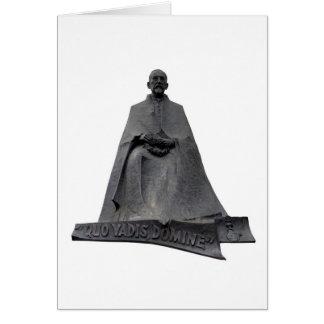 Statue Of Henryk Sienkiewicz Card