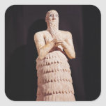 Statue of Itur-Shamagen, King of Mar Square Stickers