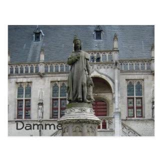 Statue of Jacob van Maerlant Postcard