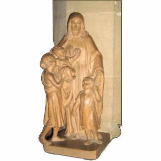 Statue of Jesus with children