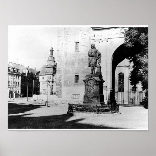 Statue of Johann Sebastian Bach Posters