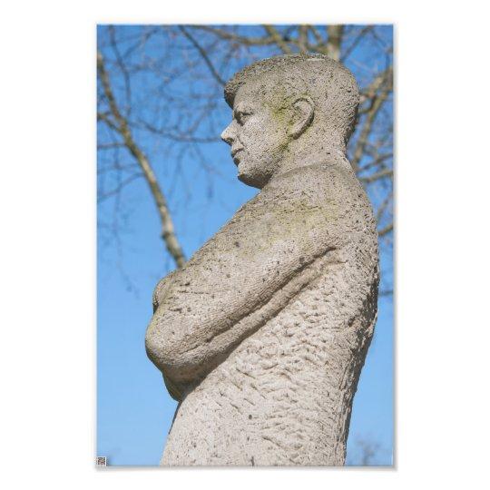 Statue of John F. Kennedy in Bonn Photo Print