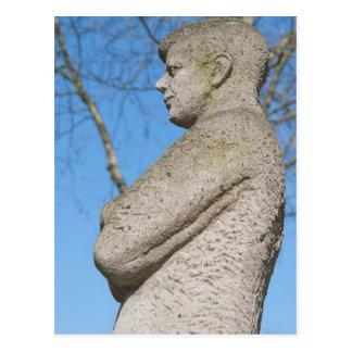 Statue of John F. Kennedy in Bonn Postcard