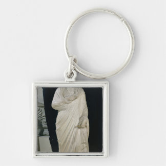 Statue of Julian the Apostate Silver-Colored Square Keychain