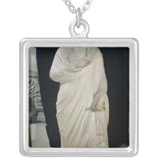 Statue of Julian the Apostate Square Pendant Necklace
