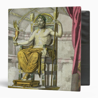 Statue of Jupiter in a Temple, from 'Costumi dei R 3 Ring Binders
