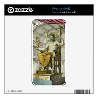 Statue of Jupiter in a Temple, from 'Costumi dei R iPhone 4 Decals