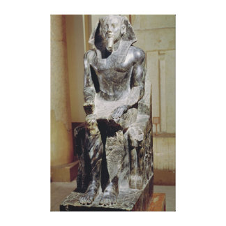 Statue of Khafre Canvas Print