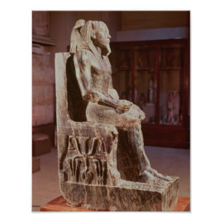 Statue of Khafre  enthroned Poster