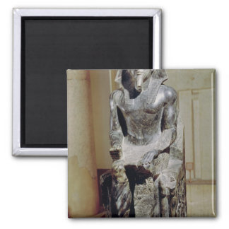 Statue of Khafre 2 Inch Square Magnet