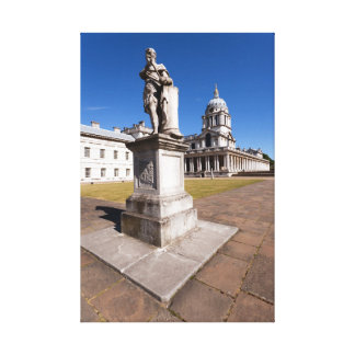 Statue of King George II in Grand Square Canvas Print